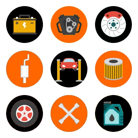 icons of garage services