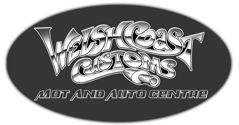 welsh coast customs logo with oval black background